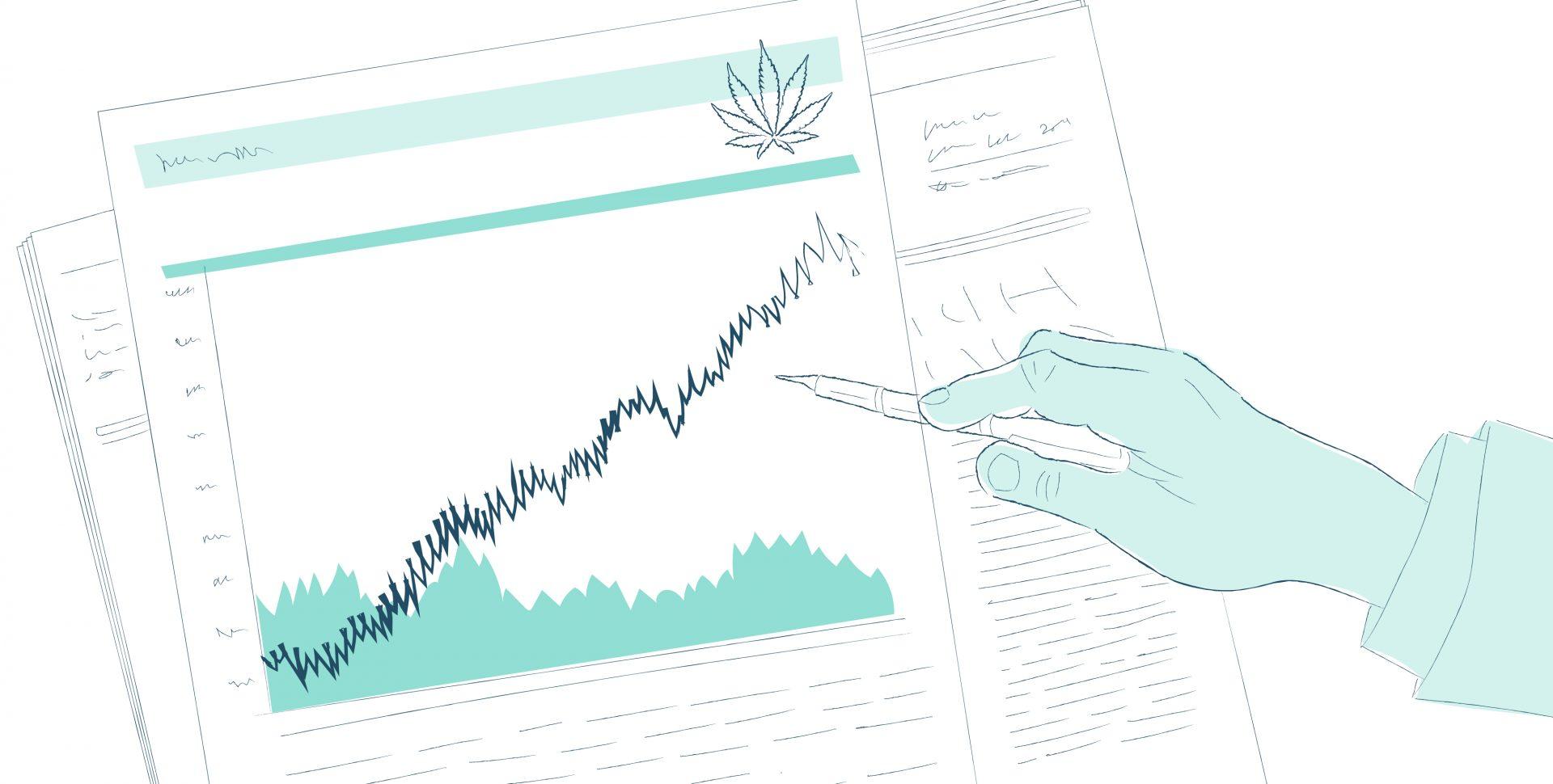 Cannabis y Finanzas - Imagen por Ilona Szentivanyi. Todos los derechos reservados a El Planteo y Benzinga.